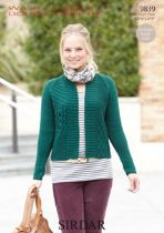 Sirdar Wash 'n Wear Double Crepe - 9839 Jacket Knitting Pattern